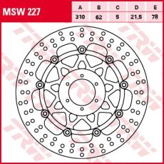 Bremsscheibe MSW227