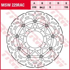 Bremsscheibe MSW229RAC