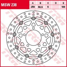 Bremsscheibe MSW238
