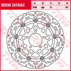 Bremsscheibe MSW241RAC