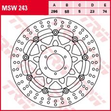 Bremsscheibe MSW243