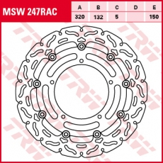 Bremsscheibe MSW247RAC
