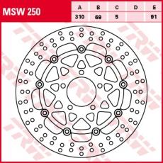 Bremsscheibe MSW250