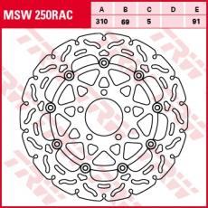 Bremsscheibe MSW250RAC