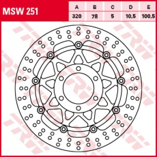 Bremsscheibe MSW251