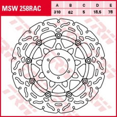 Bremsscheibe MSW258RAC