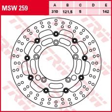 Bremsscheibe MSW259