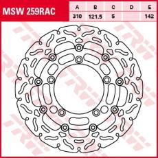 Bremsscheibe MSW259RAC
