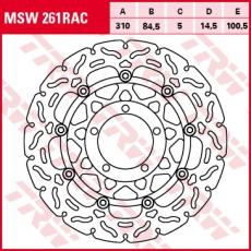 Bremsscheibe MSW261RAC