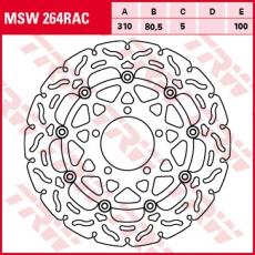 Bremsscheibe MSW264RAC