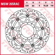 Bremsscheibe MSW265RAC