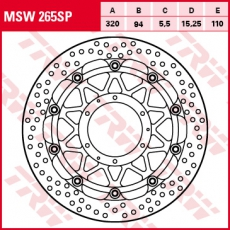 Bremsscheibe MSW265SP