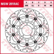 Bremsscheibe MSW281RAC