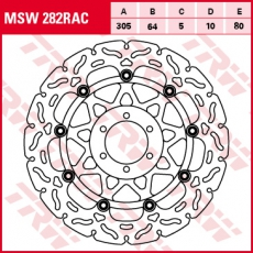Bremsscheibe MSW282RAC