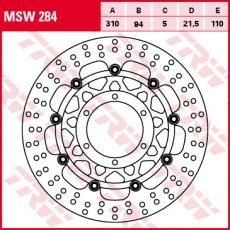 Bremsscheibe MSW284