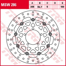 Bremsscheibe MSW286