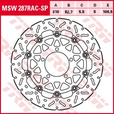 Bremsscheibe MSW287RAC-SP