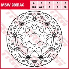 Bremsscheibe MSW288RAC