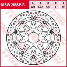 Bremsscheibe MSW288SP-R
