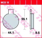 Bremsbelag MCB18
