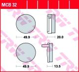 Bremsbelag MCB32